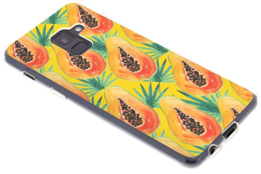 Papayas design siliconen hoesje voor de Samsung Galaxy A8 (2018)
