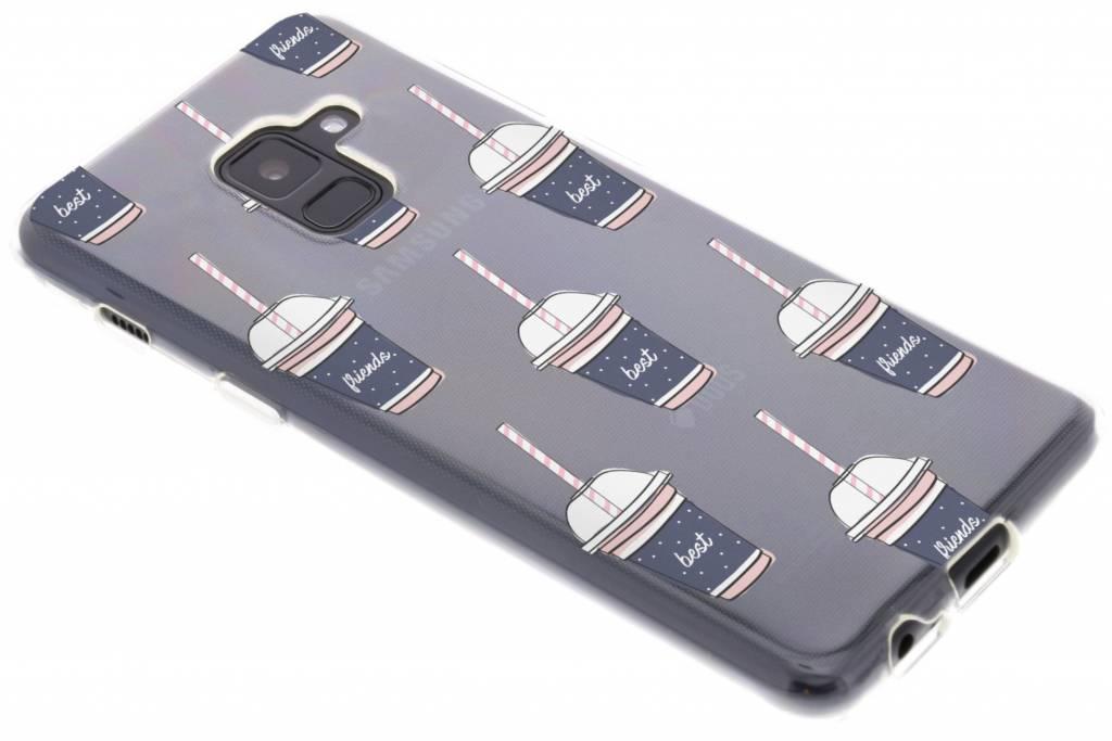 Milkshake design siliconen hoesje voor de Samsung Galaxy A8 (2018)