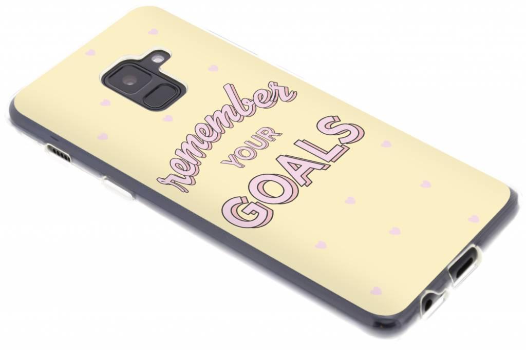 Remember Your Goals design siliconen hoesje voor de Samsung Galaxy A8 (2018)