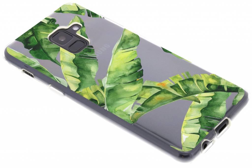 Bananaplant design siliconen hoesje voor de Samsung Galaxy A8 (2018)