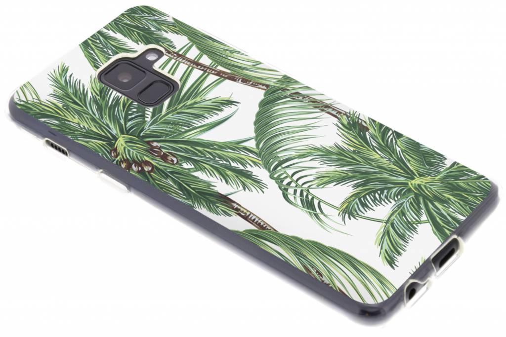 Palmbomen design siliconen hoesje voor de Samsung Galaxy A8 (2018)