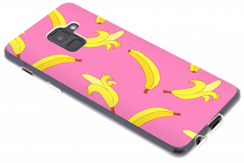 Bananas roze design siliconen hoesje voor de Samsung Galaxy A8 (2018)