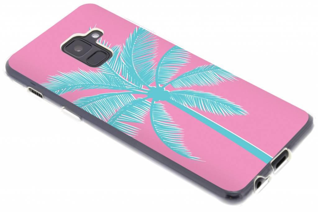 Palm roze design siliconen hoesje voor de Samsung Galaxy A8 (2018)