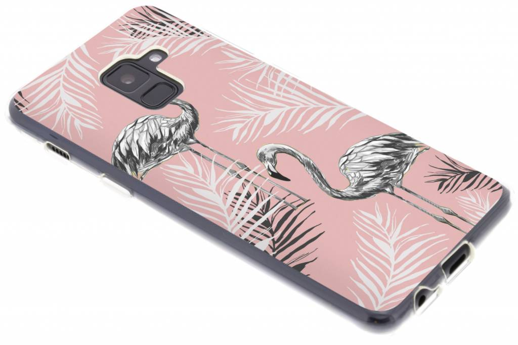 Flamingo design siliconen hoesje voor de Samsung Galaxy A8 (2018)