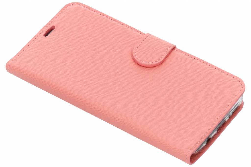 Roze Saffiano booktype hoes voor de Samsung Galaxy S9 Plus