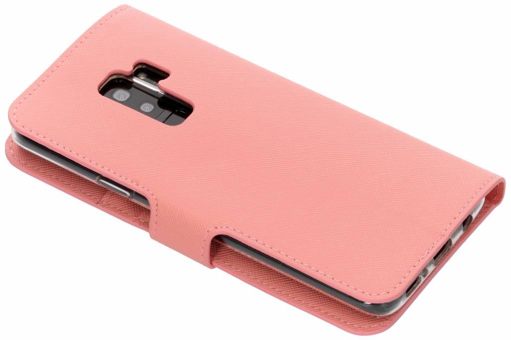 Rose Saffiano Cas De Type Livre Pour Samsung Galaxy S9 uUg7bs68oO