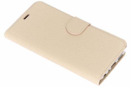 Saffiano Booktype voor Huawei P Smart - Beige