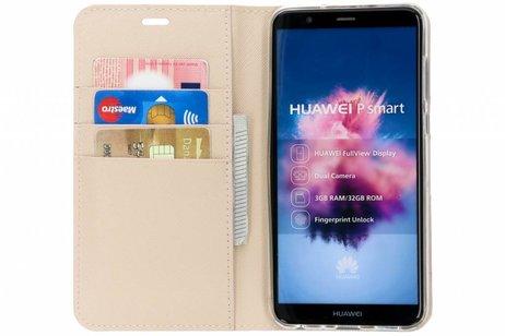 Selencia Saffiano Booktype voor Huawei P Smart - Beige