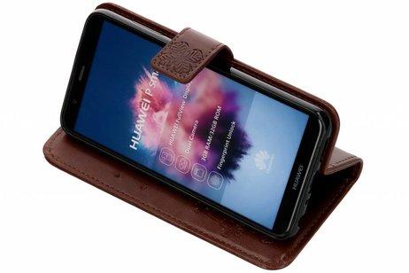 Huawei P Smart hoesje - Klavertje Bloemen Booktype voor