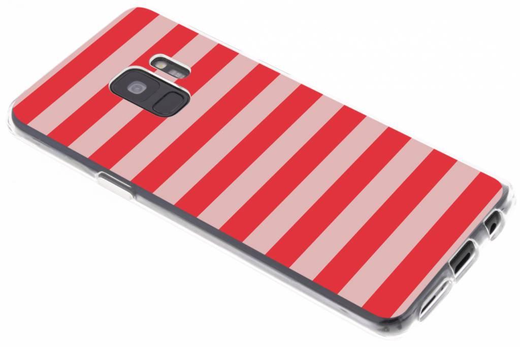 Bande Rouge Étui En Silicone Design Pour Samsung Galaxy S8 OHBad6c