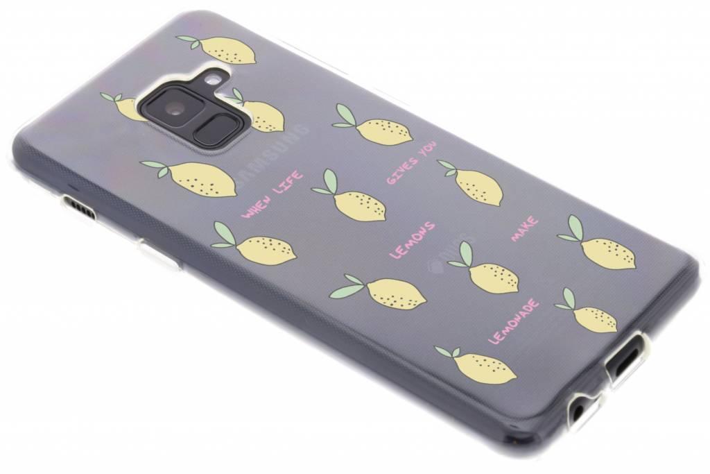 Lemons design siliconen hoesje voor de Samsung Galaxy A8 (2018)