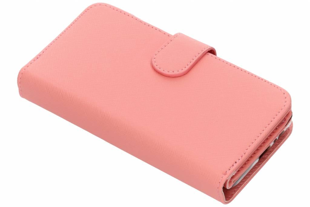 Roze Saffiano 9 slots portemonnee hoes voor de Samsung Galaxy A8 (2018)