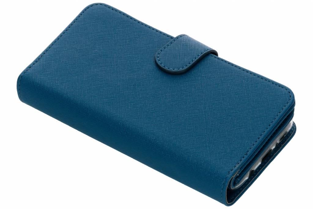 Blauwe Saffiano 9 slots portemonnee hoes voor de Samsung Galaxy S9 Plus