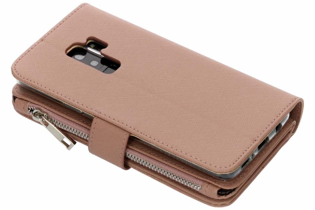 Khaki Cas De Type Livre Saffiano Pour Samsung Galaxy S, Plus S9