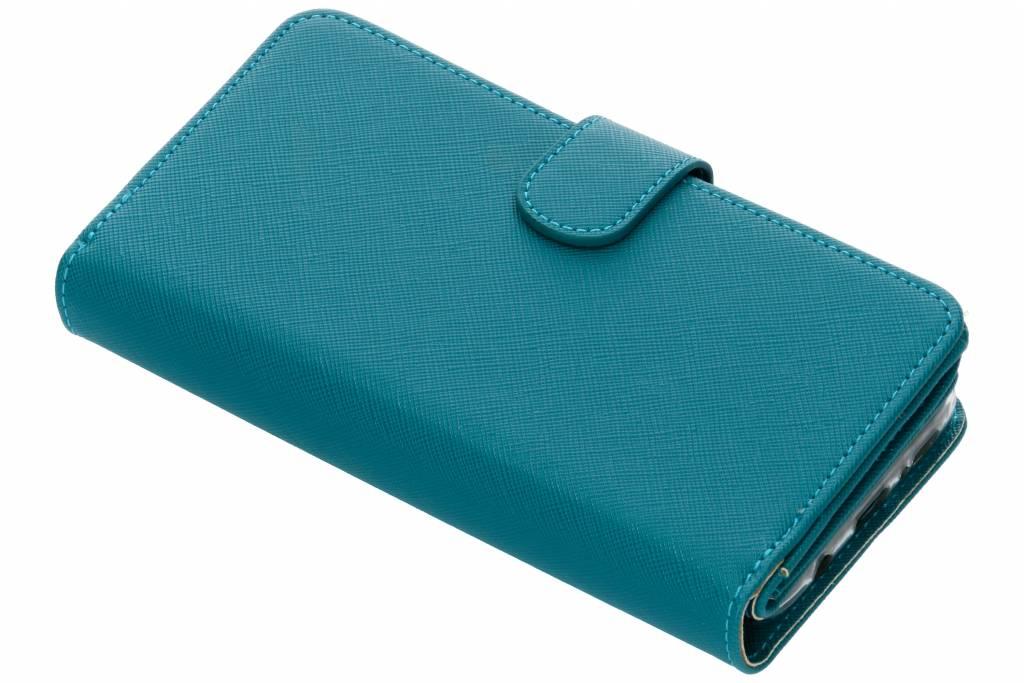 Turquoise Saffiano 9 slots portemonnee hoes voor de Samsung Galaxy S9 Plus