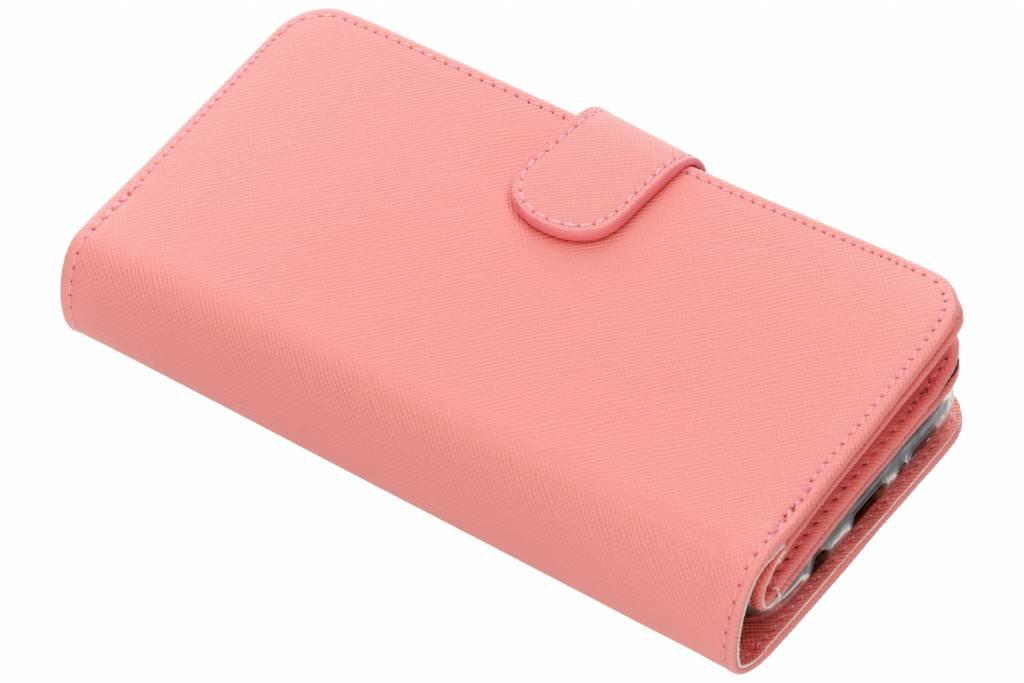 Roze Saffiano 9 slots portemonnee hoes voor de Samsung Galaxy S9 Plus