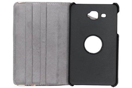 360° Draaibare Design Bookcase voor Samsung Galaxy Tab A 7.0 (2016) - Bloemen Goud