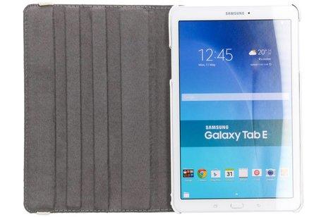 360° Draaibare Design Bookcase voor Samsung Galaxy Tab E 9.6 - Be happy