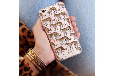My Jewellery Design Backcover voor iPhone 8 / 7 - Cheetah
