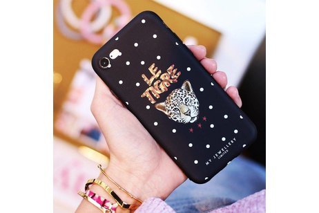 My Jewellery Design Backcover voor iPhone SE (2020) / 8 / 7 - Le Tigre