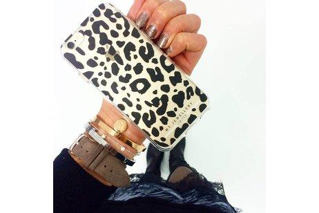 My Jewellery Design Backcover voor iPhone 8 Plus / 7 Plus - Panther Zwart