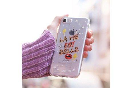 My Jewellery Design Backcover voor iPhone 8 Plus / 7 Plus - La Vie est Belle