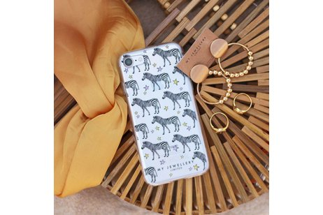 My Jewellery Design Backcover voor iPhone 6(s) Plus - Zebra