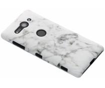 Wit Marmer look hardcase hoesje Sony Xperia XZ2 Compact