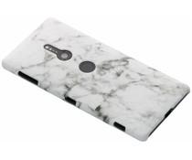 Wit Marmer look hardcase hoesje Sony Xperia XZ2