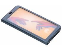 Blauw Lederen booktype hoes met venster Huawei P20 Lite