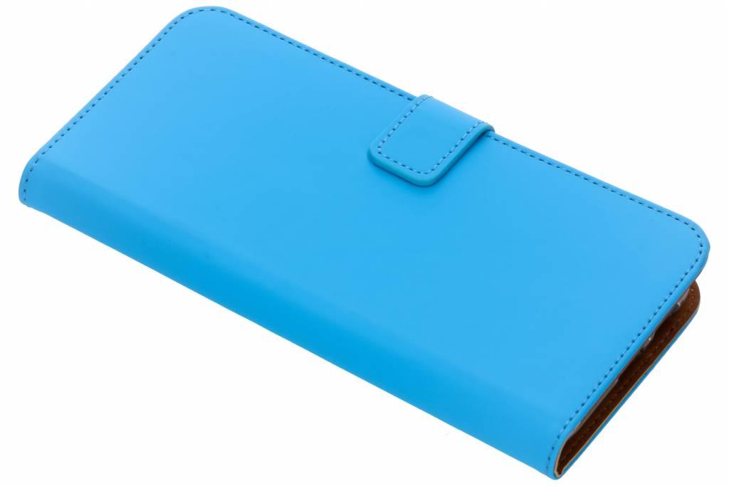 Selencia Blauwe Luxe TPU Book Case voor de Samsung Galaxy A6 Plus (2018)