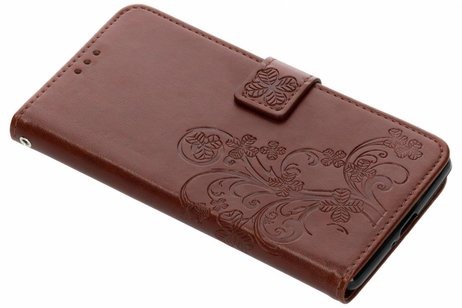 Sony Xperia XZ2 Premium hoesje - Klavertje Bloemen Booktype voor