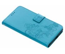 Turquoise klavertje bloemen booktype Sony Xperia XZ2 Premium