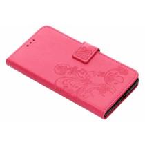 Klavertje Bloemen Booktype Sony Xperia XZ2 Premium