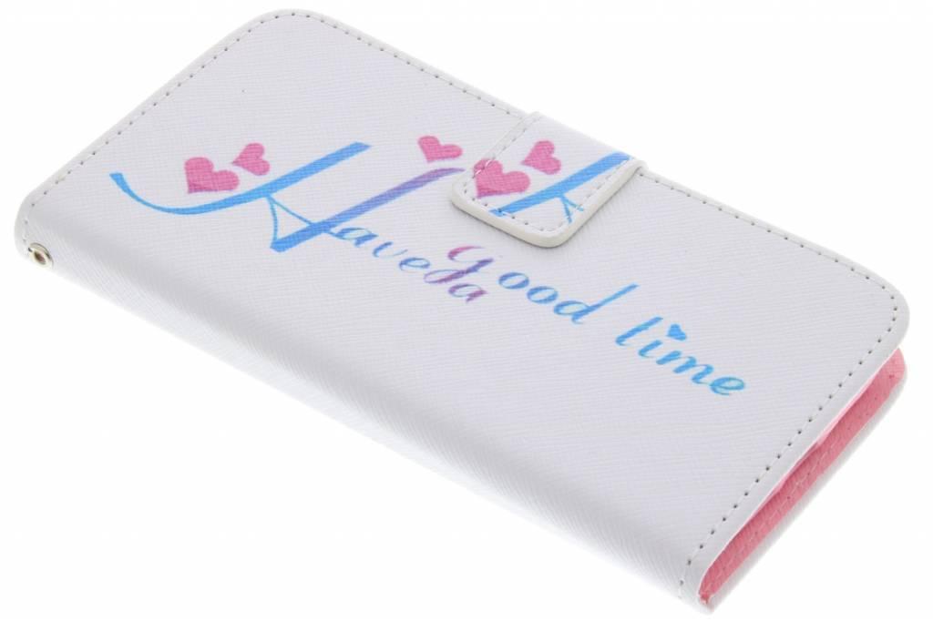 Have a good time design TPU booktype hoes voor de LG G2