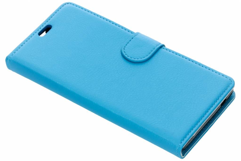 Blauwe Litchi Booktype Hoes voor de Lenny 4 Plus