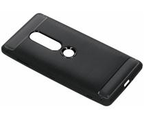 Zwart Brushed TPU case Sony Xperia XZ2 Premium