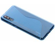Blauw S-line TPU hoesje Huawei P20