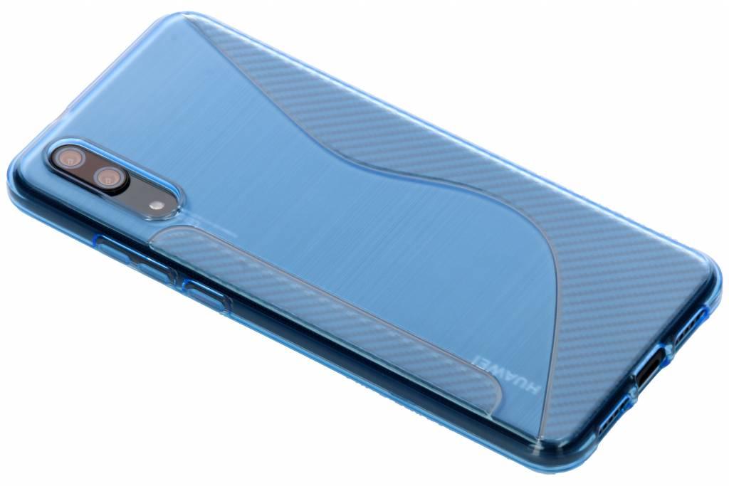 Blauw S-line TPU hoesje voor de Huawei P20