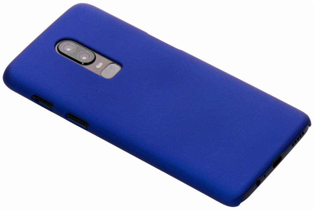 Blauw effen hardcase hoesje voor de OnePlus 6