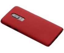Rood Effen hardcase hoesje OnePlus 6