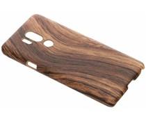 Donkerbruin Hout design hardcase hoesje LG G7