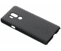 Zwart carbon look hardcase hoesje LG G7