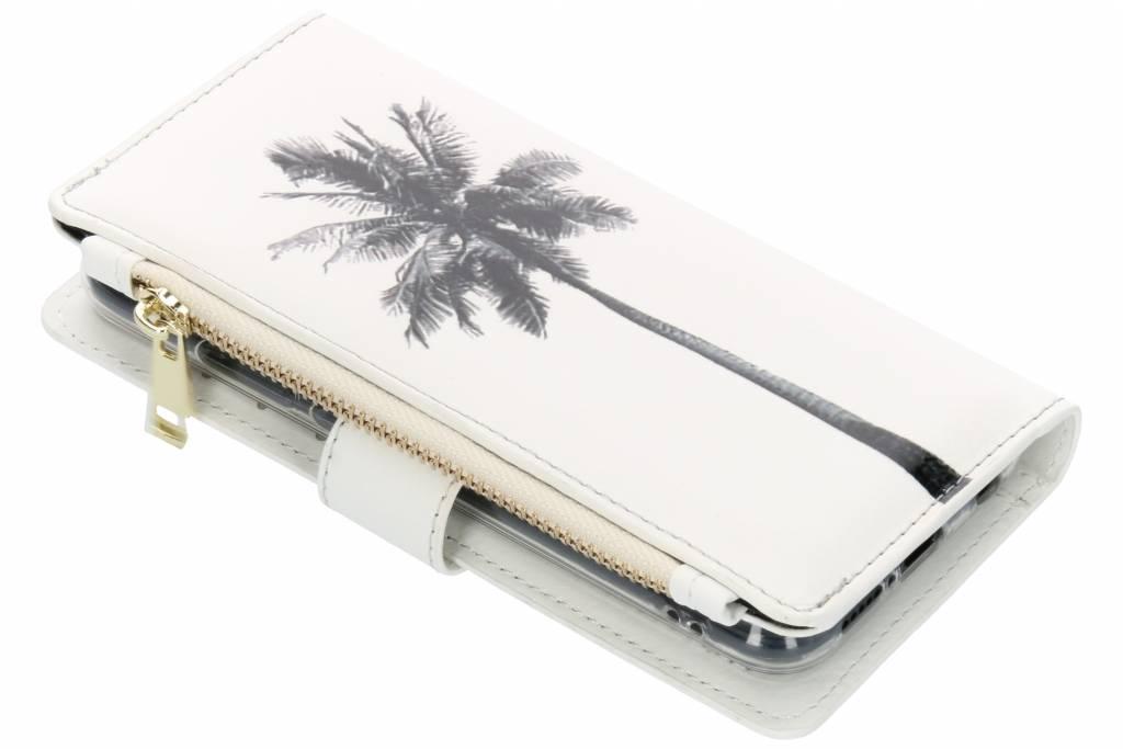 Palmtree design luxe portemonnee hoes voor de Huawei P20 Lite