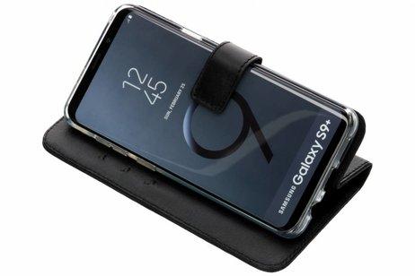 Valenta Leather Booktype voor Samsung Galaxy S9 Plus - Zwart