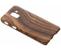 Donkerbruin Hout design hardcase hoesje Samsung Galaxy J6