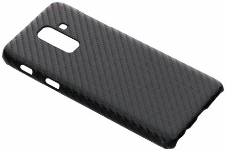 Samsung Galaxy A6 Plus (2018) hoesje - Carbon Hardcase Backcover voor