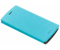 Turquoise Gladde booktype hoes OnePlus One