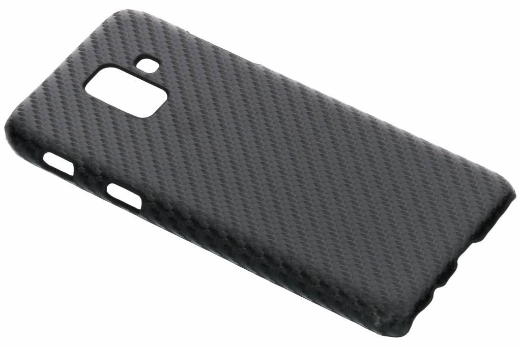 Carbon Hardcase Backcover voor Samsung Galaxy A6 (2018) - Zwart