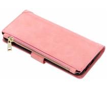 Roze Luxe portemonnee hoes Galaxy A6 Plus (2018)